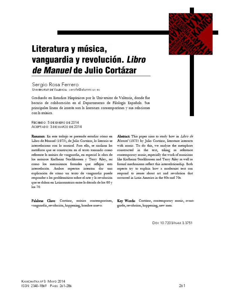 Texto crítico Libro de Manuel, Cortázar ROSA FERRERO, Sergio .pdf