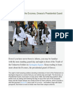 A Brief History of the Evzones, Greece's Presidential Guard