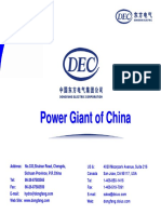 DEC Dongfang Electric Hydro 2008