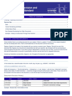 Document Revision and Numbering Standard