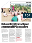 Millions still illiterate 20 years after start of UPE programme