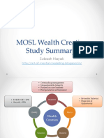 MOSL Wealth Creation Summary
