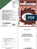 LIVRO Psicologia Institucional (Marlene Guirado)