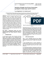 Advanced Optimization of Single Area Power Generation System using Adaptive Fuzzy Logic and PI Control