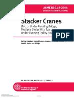 ASME B30.18-2004_Stacker Cranes (Top or Under Running Bridge, Multiple Girder With Top or Under Running Trolley Hoist)_Safety Standard for Cableways, Cranes, Derricks, Hoists, Hooks, Jacks, And Slings