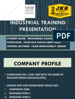 Industrial Training Azam