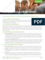 Black Baud Solutions Agreement