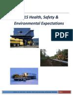 2015 Peak HSE Expectations