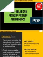 Nilai & Prinsip Antikorupsi