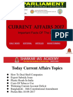 Latest Current Affairs for UPSC exams Students - IAS Parliament
