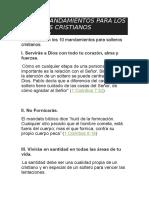Los 10 Mandamientos Para Los Solteros Cristianos