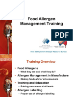 Allergen Awareness Training Presentation