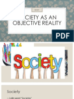 Society as an Objective Reality