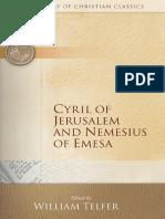 Cyril of Jerusalem and Nemesius of Emesa (Library of Christian Classics).pdf