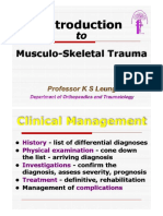 Tauma Into to MUS Trauma 2014