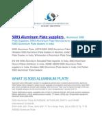 5083 Aluminum Plate Suppliers