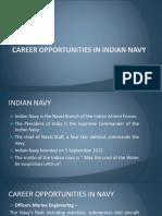 Career Opportunities in Indian Navy