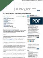 ISO 9001 - Ações corretivas.