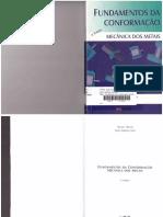 Fundamentos Da Conformação Mecânica Dos Metais