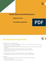 Resistencia de Materiales II - Ing. Jesús Loyaga