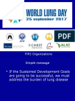 Presentation of Dr Dean E Schraufnagel, Director, FIRS in 2017 World Lung Day Webinar