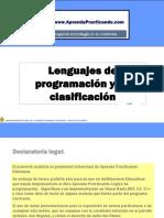 Lenguajes de Programacion y Su Clasificacion
