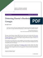 Deterring Russia's Borderization of Georgia
