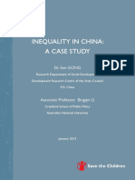 Inequality in China -- Case Study