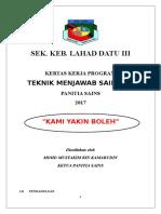 Kertas Kerja Program Teknik Menjawab Fasa 1 - 2017