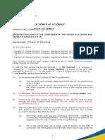 Annex 4 - Model of Power of Attorney