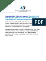 Aluminium Alloy 6066 Plate Suppliers