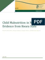 Child Malnutrition in Nigeria July 2016
