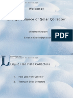 8- Energy Balance of Solar Collectors