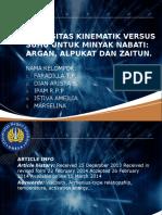 Viskositas kinematik Versus Suhu untuk Minyak nabati.pptx