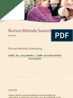 Rumus Metoda Swansburg