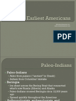 09.24. Earliest Native Americans Paleo Indians