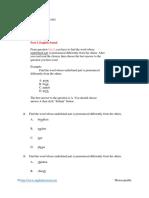 English Pronunciation Test 001