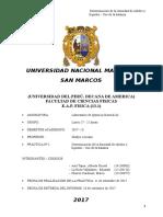 Informe Nº Quimica General A1 Prof Gladys Elescano