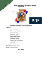 Sistema de Circulacion y Control de Solidos