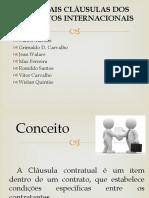 Principais Cláusulas Dos Contratos Internacionais