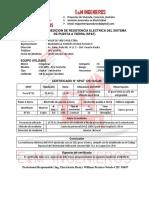 Certificado de Pozo Tierra