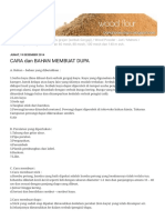 Tepung Kayu - Bahan Baku Dupa & Obat Nyamuk