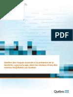 Gestion des risques associés à la présence de la bactérie Legionella spp. dans les réseaux d'eau des centres hospitaliers au Québec_INSPQ-201604