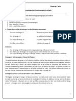 Advantages and Disadvantages Paragraph
