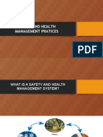 Safety and Health Management Practices