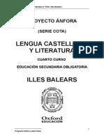 Programación Anfora Cota Lengua y Literatura 4 ESO Illes_Balears_ (2).doc