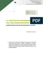 La Innovacion Empresarial y La Cultura Organizacional
