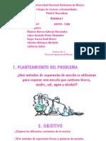 PRACTICA #3, SEPARACIÓN DE MEZCLAS EQUIPO #1 158A.pptx