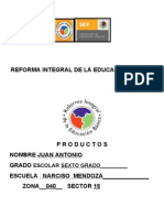 Productos de La Reforma Integral Juan Antonio Balboa[1]