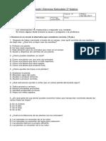 Evaluación Ciencias 3° AGOSTO